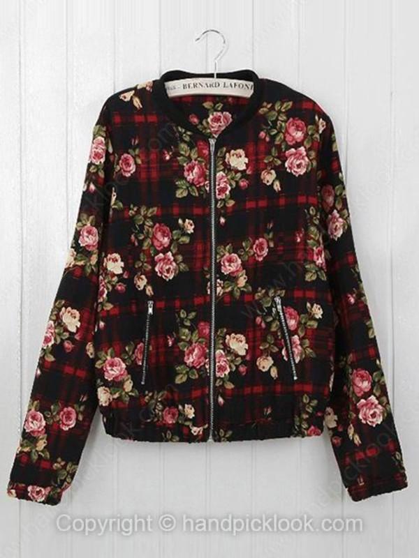 floral coat top coat