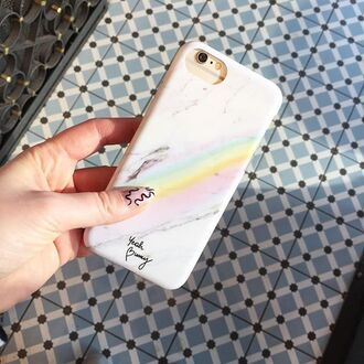 phone cover marble white marble rainbow iphone case cover