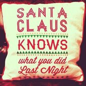 santa claus,pillow,pretty,holiday home decor,quote on it,christmas