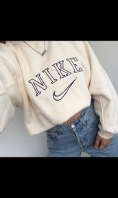 sweater,nike,sweat,white,beige,nike sweater,sweatshirt,jeans,denim,nike shoes,long sleeves,nude,vintage,oversized sweater,shirt,tan,nike shirt,old school,swoosh logo,vintage shirt,cute,tumblr,tumblr top,superfinders,vintage pullover,pullover,hoodie,white sweater,creme,vintage nike,retro,classic,cream,adidas,top,clothes,girl,cropped hoodie,nude cropped sweatshirt,cropped,nike cropped hoodie,crop tops,whithe,big sweaters,jacket,nike hoodie,nike sweatshirts,shoes,cropped sweater