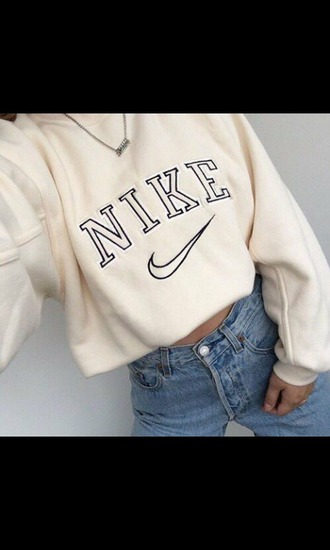 sweater nike sweat white beige nike sweater sweatshirt jeans denim nike shoes long sleeves nude vintage oversized sweater shirt tan nike shirt old school swoosh logo vintage shirt cute tumblr tumblr top superfinders vintage pullover pullover hoodie white sweater creme vintage nike retro classic cream adidas top clothes girl cropped hoodie nude cropped sweatshirt cropped nike cropped hoodie crop tops whithe big sweaters jacket nike hoodie nike sweatshirts shoes cropped sweater