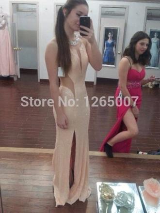 dress mesh prom prom gown beaded dress prom dress