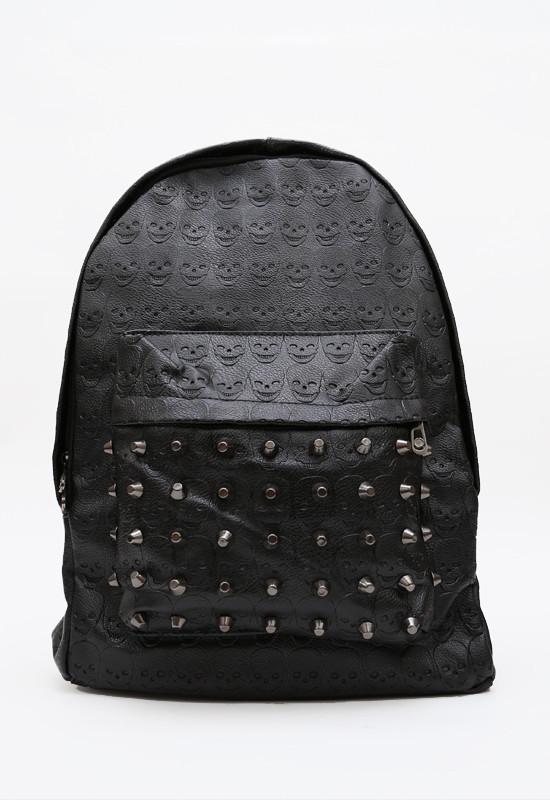 Studded out skull backpack