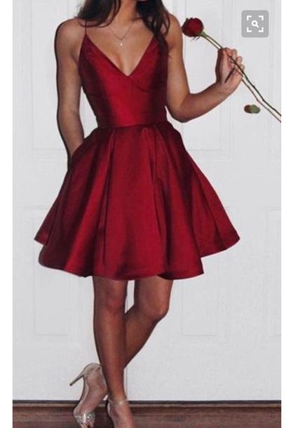 47701674b4e84 dress red dress red short dress scoop shiny silk silk dress semi formal  homecoming short homecoming