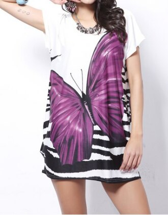 dress butterfly white nature sexy cute trendy cool summer beach print purple style stylish summer outfits clothes outfit gorgeous gorgeous dress