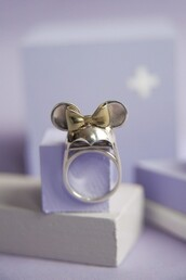 minnie mouse,disney,ring,gold,jewels