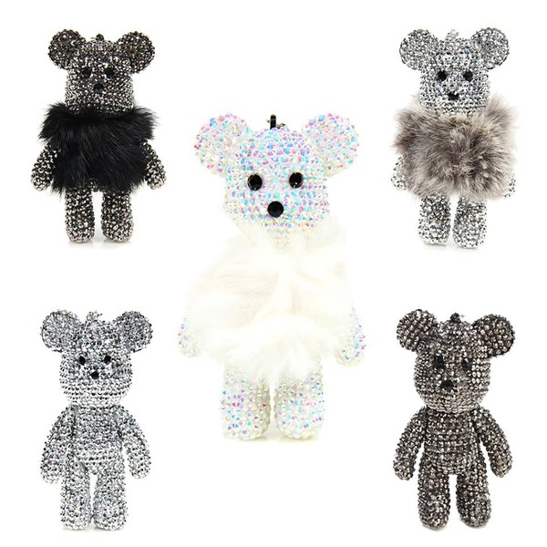 jewels keychain cute teddy bear