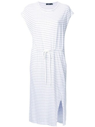 dress shirt dress t-shirt dress women drawstring white cotton
