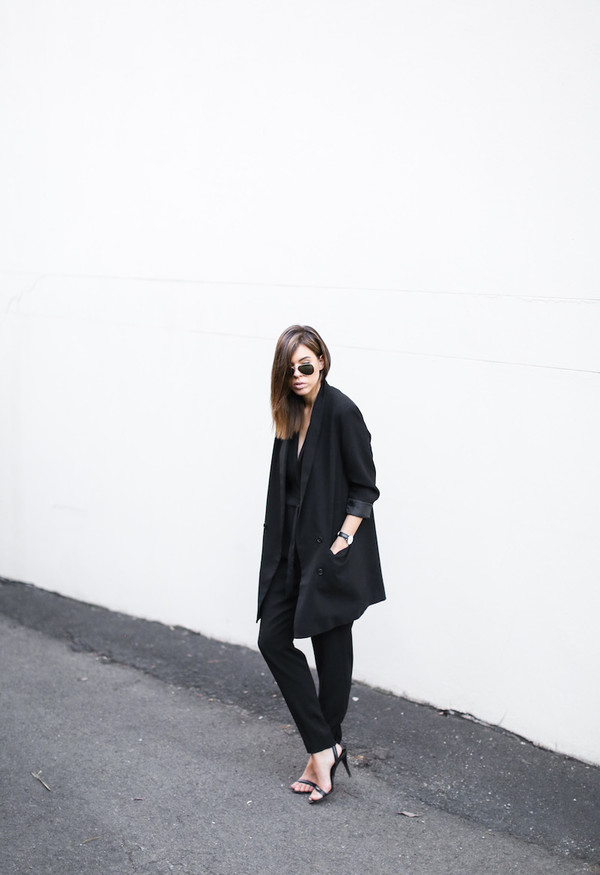 modern legacy jumpsuit jacket shoes jewels sunglasses