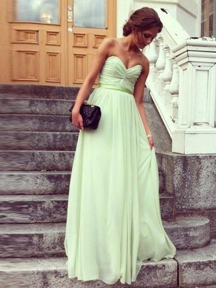 green dress prom dress bridesmaid dresses long dresses