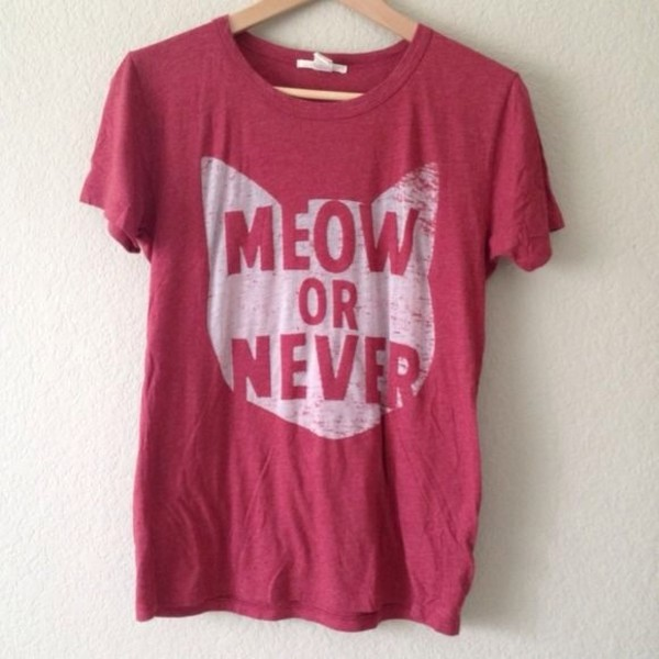 shirt meow cats