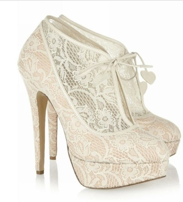 shoes heels lace top lace-up shoes cute high heels sparkle high heels wedding shoes