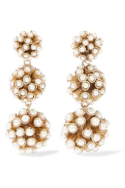 Rosantica pearl earrings gold jewels