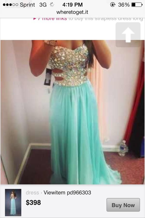 dress blue prom dress strapless long prom dress