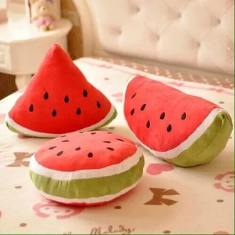 home accessory watermelon print cool home decor red fruits summer pillow