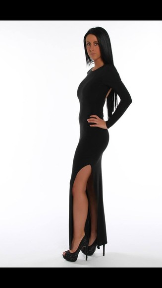 dress black maxi dress love it