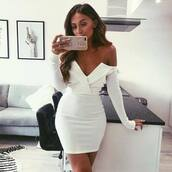 dress,foldover dress,missguided,white dress,wrap dress,off the shoulder,off the shoulder dress,bardot dress,bardot,summer dress,event dress,formal dress