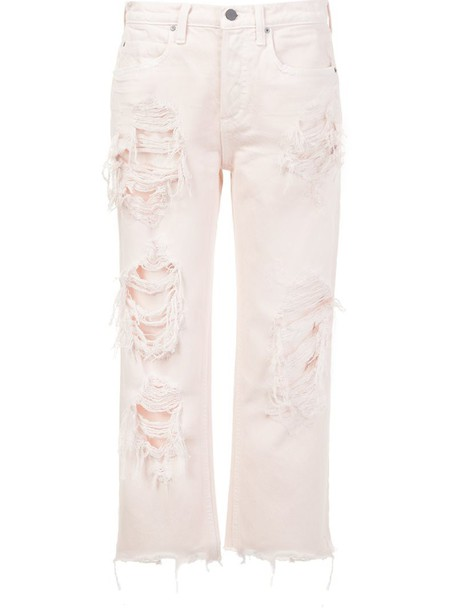 Alexander Wang jeans cropped jeans cropped purple pink