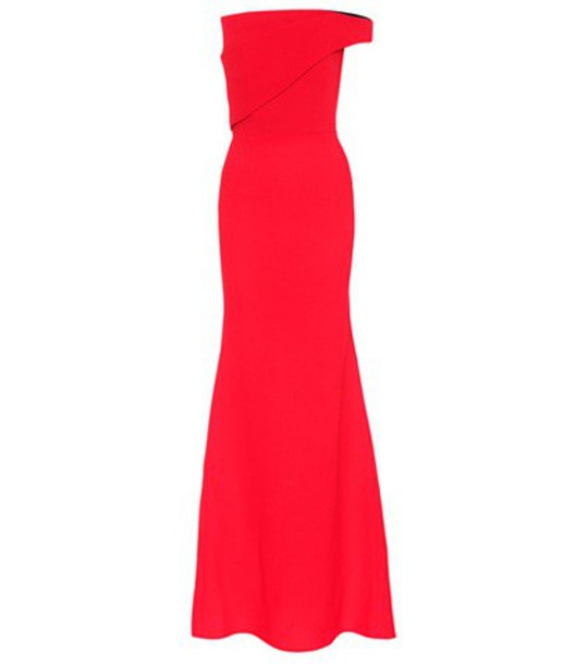 Roland Mouret gown wool red dress