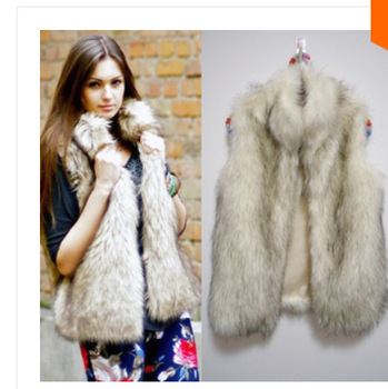 2014 new fashion free shipping winter sleeveless warm women faux fur vest fur coat jacket waistcoat coat women clothing jacket