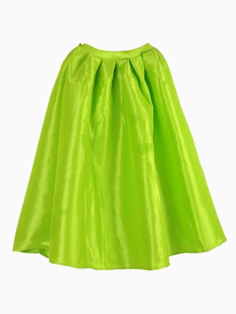 Bright Green Midi Skater Skirt   Choies