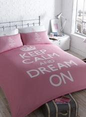 home accessory,pink,keep calm,bedding