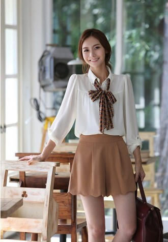 skirt brown skirt bow