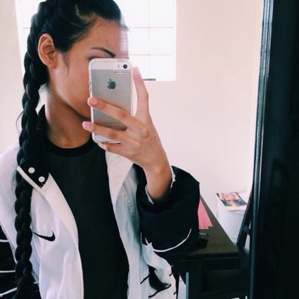 jacket white nike white nike windbreaker