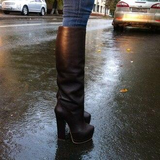 shoes boots high heels black
