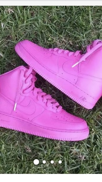 shoes hot pink airforce 1 high top
