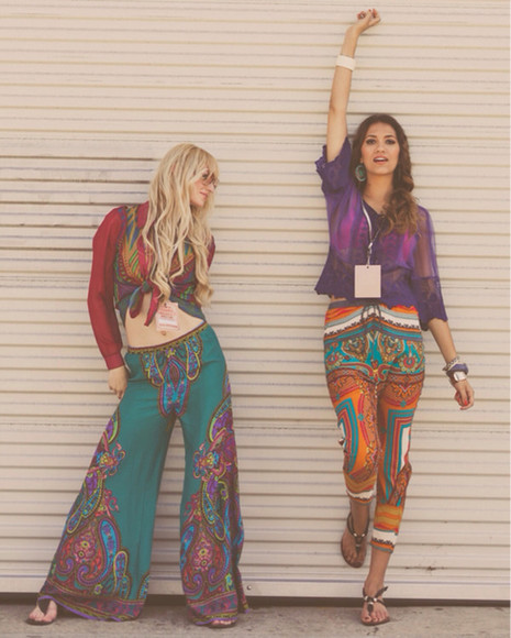 boho hippie bohemain flow pants hippie pants