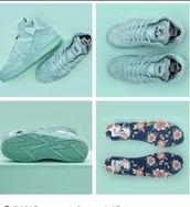 shoes,fila,pastel sneakers,pastel,pastel green,high top sneakers,dope