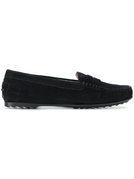 TOD'S women loafers leather suede shoes