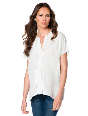 Vince Cap Sleeve High-low Hem Maternity Blouse