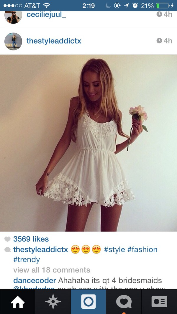 dress white dress cute
