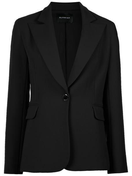 Olympiah blazer women classic spandex black jacket