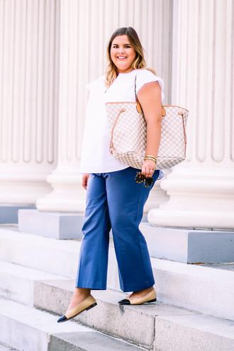 stylishsassy&classy blogger top pants bag shoes sunglasses jewels plus size louis vuitton bag louis vuitton flats