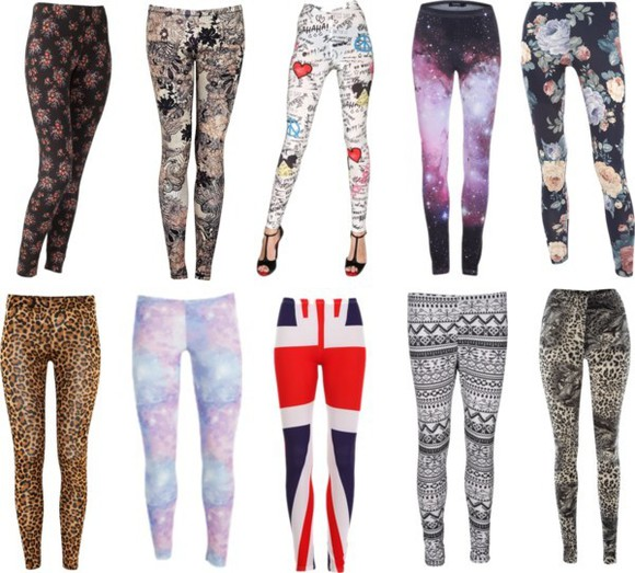 animal print leopard print pants ethnic flowers comic galaxy galaxy leggings ethnic print uk flag