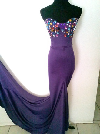 dress prom prom dress mermaid prom dress train sparkly dress long dress floor length dress purple dress formal dress