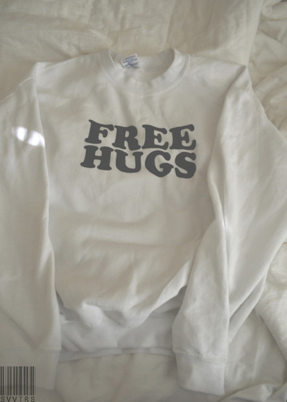 girl tumblr girls jacket free hugs coat white