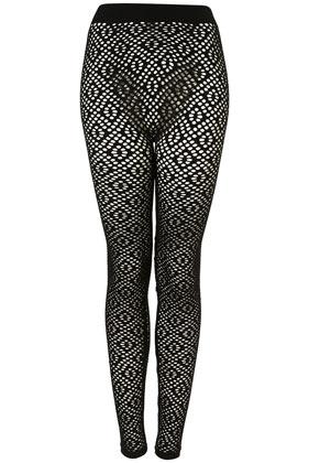 Black diamond pattern check leggings