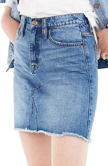 J.Crew Denim Skirt (Birch) (Regular & Petite) | Nordstrom