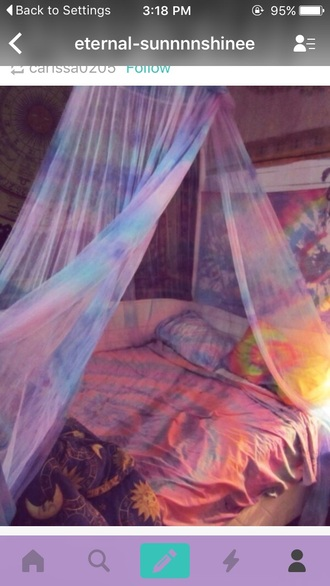 home accessory tie dye rainbow tapestry dorm room