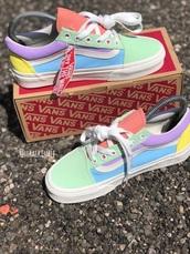 shoes,pastel shoes,vans,low top sneakers