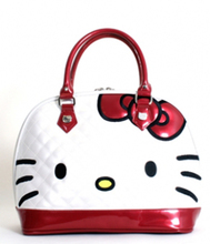 Hello Kitty White Quilted Face Tote Bag  - Cutie Gifts