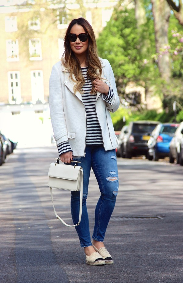 louhayhay jacket t-shirt jeans shoes jewels bag