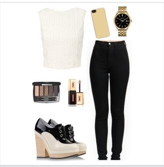 chanel bag top jeans pants black t-shirt shirt bracelets iphone case shoes romper shorts