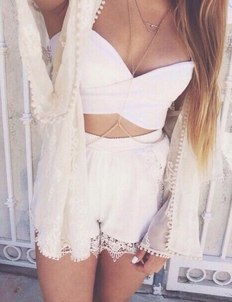 shorts white shorts high waisted jewels