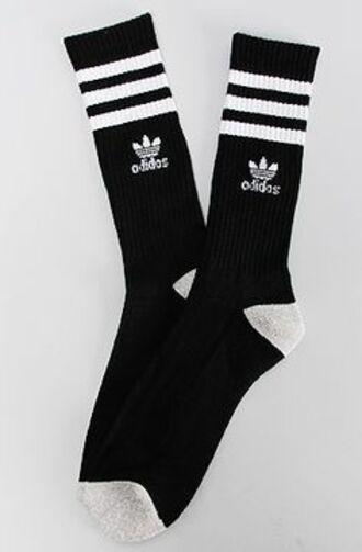 socks adidas socks stripes black and white