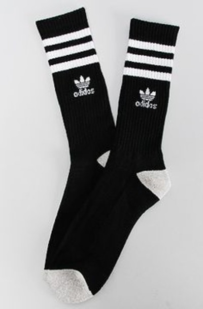 socks adidas socks stripes black and white